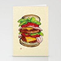 hamburger Stationery Cards featuring Hamburger by aibo