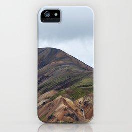 Landmannalaugar rainbow mountains in Iceland - landscape photography iPhone Case