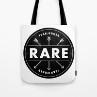 rare Tote Bags featuring Rare by Taylor Shute