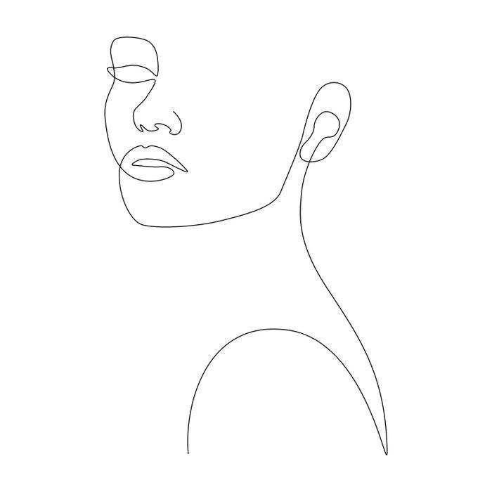 Girly Portrait Duvet Cover