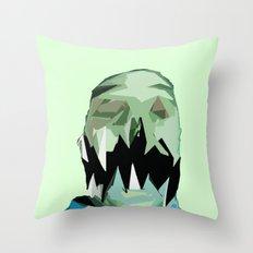 Monster Face 3 Throw Pillow