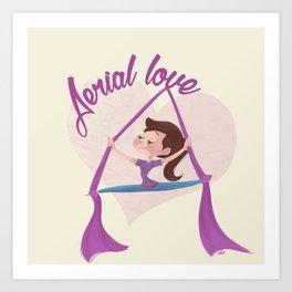 Aerial love (girl version) Art Print