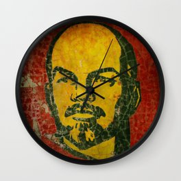 Goodbye Lenin fresco in the ex Soviet military base in Latvia  Wall Clock
