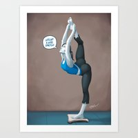Wii Fit Trainer Pinup Art Print