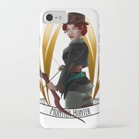 monster hunter iPhone & iPod Cases featuring Steampunk Occupation Series: Monster Hunter by kortothecore