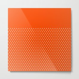 Dots on Clementine Metal Print