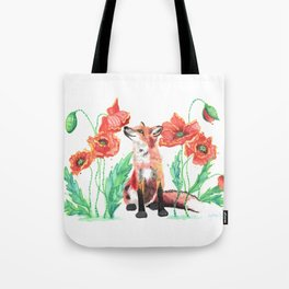 Pause & Smell the Poppies Tote Bag