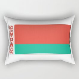 Flag of Belarus.  The slit in the paper with shadows. Rectangular Pillow