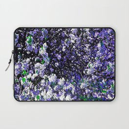 TREES PURPLE AND WHITE Laptop Sleeve