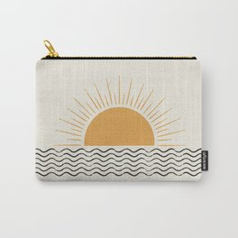 Sunrise Ocean -  Mid Century Modern Style Carry-All Pouch