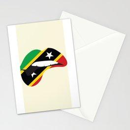 Saint Kitts Girl Lips Stationery Cards