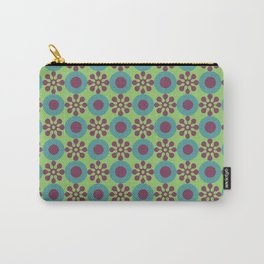 Retro Modern Flower Power Carry-All Pouch
