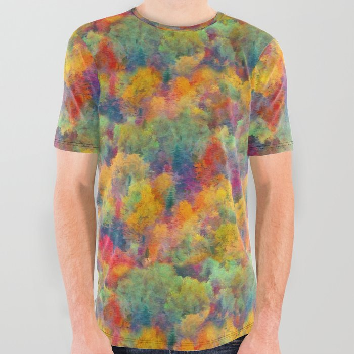 Autumn forest All Over Graphic Tee