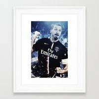 zlatan Framed Art Prints featuring Zlatan Ibrahimovic by Max Hopmans / FootWalls
