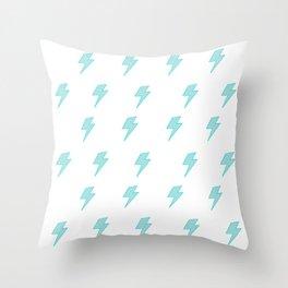 Bolt- Aqua Throw Pillow