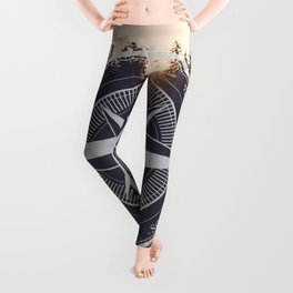 Wooded Lake Reflection Compass Leggings