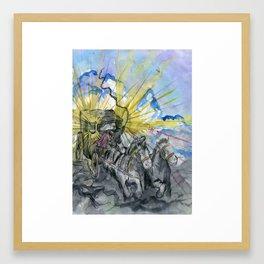 the Silent Coach Framed Art Print