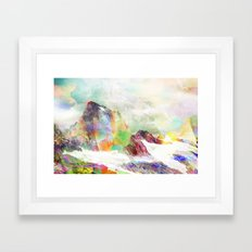 Glitch Mountain Framed Art Print