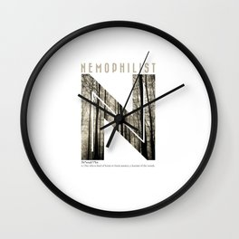 Nemophilist 002 Wall Clock