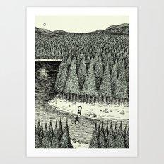 'Somewhere' Art Print
