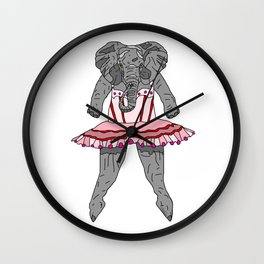 Elephant Ballerina Tutu Wall Clock