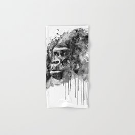 Powerful Gorilla Black and White Hand & Bath Towel