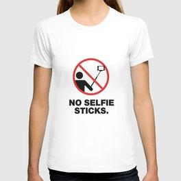 NO SELFIE STICKS T-shirt