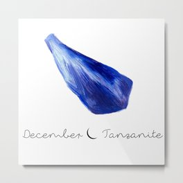 december tanzanite Metal Print