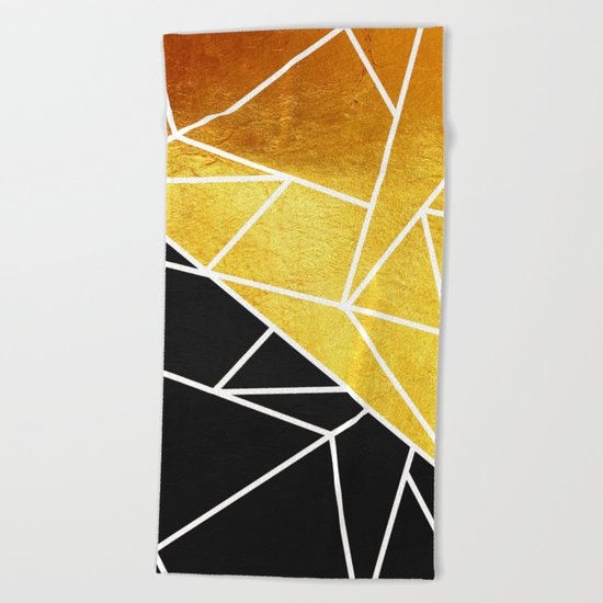 Coal and Gold Beach Towel