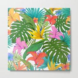 Tropical Colorful Palm Garden Metal Print