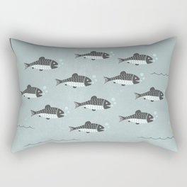 School of Fish Rectangular Pillow