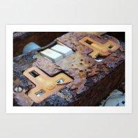 rusted socket Art Print