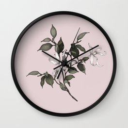 PINK ENCYCLIA ORCHID Wall Clock
