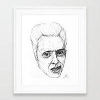 christopher walken Framed Art Prints featuring Christopher Walken by Chuck Jackson