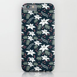 Christmas Poinsettias iPhone Case
