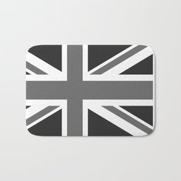 UK Flag - High Quality Authentic 1:2 scale in Grayscale Bath Mat
