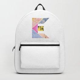 Collaged Tangram Alphabet - E Backpack