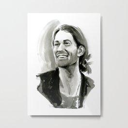 portrait of laughing man Metal Print