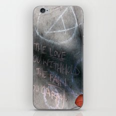 It's Just Words - #OWS iPhone & iPod Skin