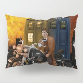 10th Doctor who with Big Motorcycle Pillow Sham