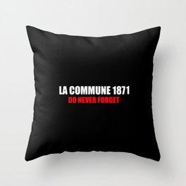 Commemoration La commune 1871 Throw Pillow
