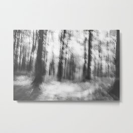 Lost in the woods - abstract infrared photograph Metal Print
