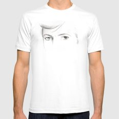 bowie MEDIUM White Mens Fitted Tee