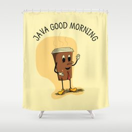 Java Good Morning - Coffee (Earth 1084) Shower Curtain