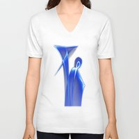 dance V-neck T-shirts featuring Dance by Digital-Art
