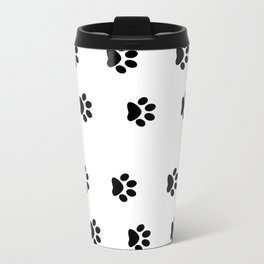 Cat Paws - Cat Lovers Unite! Black and White Cat Art Travel Mug