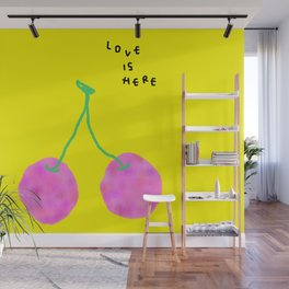 Words from Cherry - fruit love illustration wedding gift Wall Mural