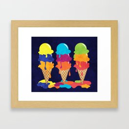 Colorful Ice Cream  Framed Art Print