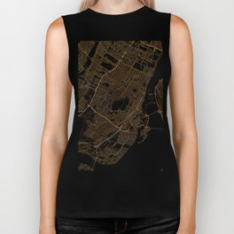 Black and gold Montreal map Biker Tank