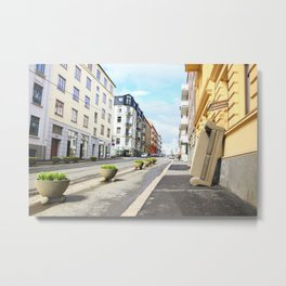 A Sunny Day in Oslo  Metal Print
